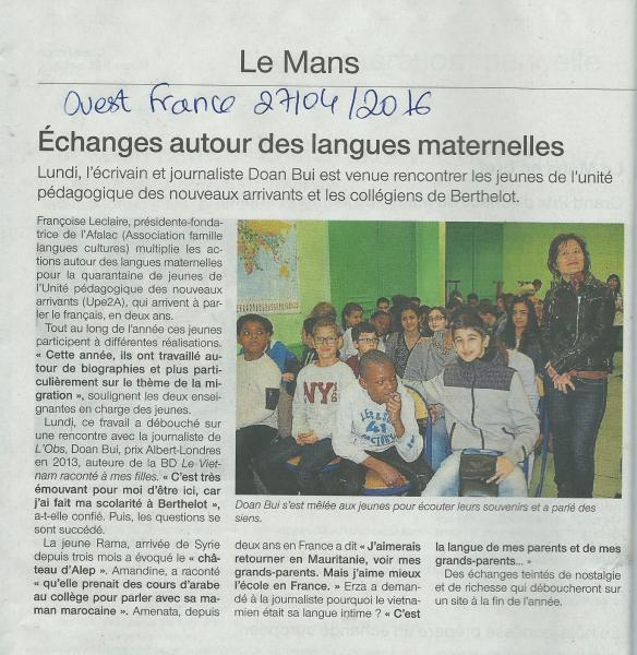 Ouest france avril 2016 2