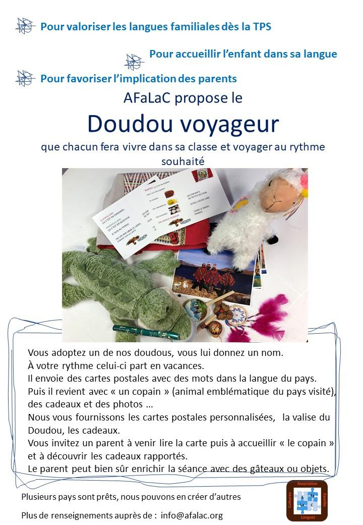 Flyer doudou voyageur